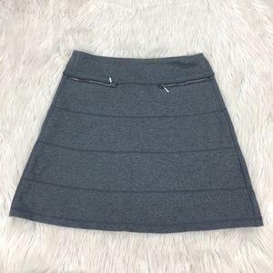 Athleta Gray Pull on Strata Skirt